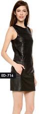 Genuine Soft Lambskin Leather Magazine Emanita Dress