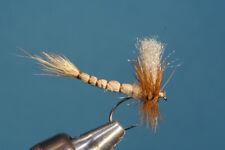Fliegentom mouche sèche 3 piéces - Éphémère brun clair avec corps allongé