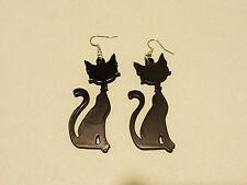 Coppia orecchini in plex plexiglas a forma di gatto disponibili vari colori