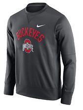Nike Men's Ohio State Buckeyers Anthracite Crew Sweatshirt