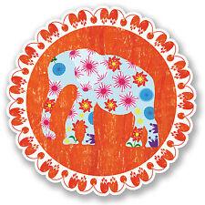 2 x ELEFANTE IN VINILE adesivo iPad Laptop AUTO CASCO Indiano Yoga fiore ragazze # 4456