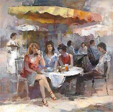 Willem Haenraets: Street Cafe II Keilrahmen-Bild Leinwand Strassencafe