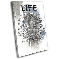 Mother Teresa Life Quote Religion SINGLE CANVAS WALL ART Picture Print VA
