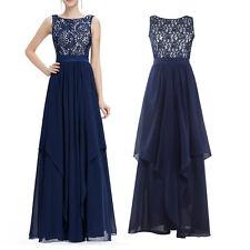 Spitze Abendkleid Ballkleid Party Kleid Grün Dunkelrot Lila Navy Blau NEU BC327