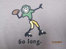 LIFE IS GOOD Football Go Long Boy's Tee Sleep Shirt (XS,S) NWT