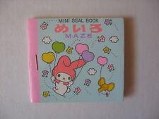 Sanrio My Melody Mini Seal Sticker Book Maze Vintage 1976 NEW