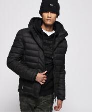 Superdry Mens Hooded Double Zip Tweed Fuji Jacket