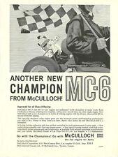 Vintage & Rare 1960 McCulloch MC-6 Go-Kart Ad