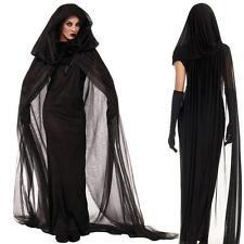 Fancy Dress Halloween Black Women Night Witch Vampire Costume Swashbuckler Wench