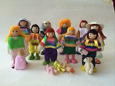 Biegepuppen Puppen biege Puppenhaus Varianten Holzspielzeug Puppenstube Holz neu