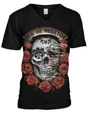Dia De Muerto Day Of The Dead Halloween Mexico Holiday Mens V-neck T-shirt