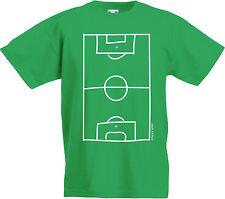FUßBALLPLATZ Kinder-T-Shirt, rasengrün