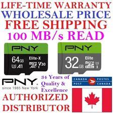 PNY Micro SD Card MicroSD Memory Card 32GB 64GB WHOLESALE LIFETIME WARRANTY