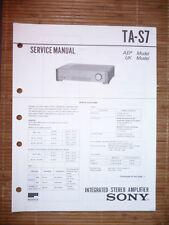 Service Manual für Sony TA-S7 Amplifier,ORIGINAL