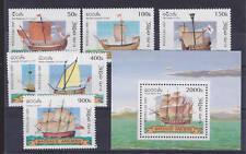 Laos Sc 1348-1354 MNH. 1997 Ships + Souv Sheet, VF