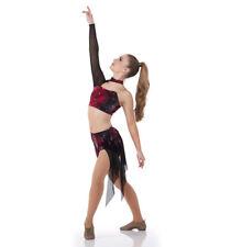 Bleeding Love Contemporary Shorts Dress Dance Costume Lyrical Adult Large,XL,2XL