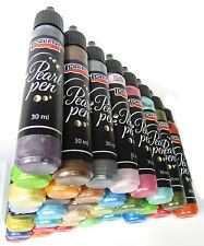 Pearl PEN cardmaking scrapbooking decoupage 30ml Tubo Scegli il Colore