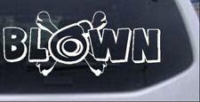 Blown Turbo Blower With Crossbones Car Truck Window Laptop Decal Sticker 8X3.3