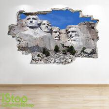 Support Rushmore Autocollant Mural 3D LOOK - chambre salon nature Z163