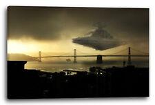 Lein-Wand-Bild: Star Wars Sternzerstörer über Golden Gate Bridge (kein Poster)