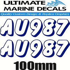Jet Ski Rego Registration Sticker Keyline Decal Set of 2, 290 x 100mm each
