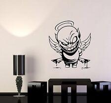 Wall Vinyl Sticker Decal Demon Angel Contrast Life Death Good Evil Bad (ed526)
