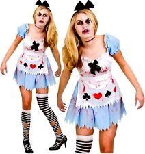 Ladies Sexy ALICE IN ZOMBIELAND Halloween Horror Fancy Dress Costume UK 6-24