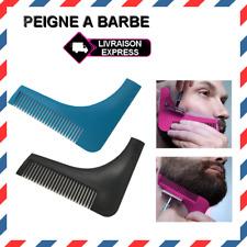 Peigne à Barbe Moustache tailler pour Rasage et contour précis tracé 3 couleur