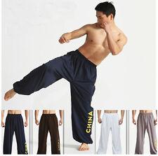 High elasticity milk silk Kung Fu Wu shu Martial Arts Bruce Lee Pants Men 6color