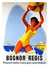 Bognor Regis Seaside Travel Poster Print - Framed And Memo Board Available