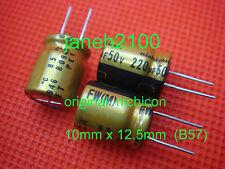100 Original Nichicon FW 220uf 50V Audio Capacitor for audio cap hifi diy (B57)