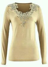 Bon prix sable Crochet Encolure Femme Taille 10 - 12 ou 18 - 20 entièrement neuf sans étiquette RRP £ 35.00