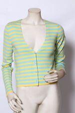 RONDINA BLU/giallo a righe Cardigan tagliato Maglione - Miura XS S M L XL