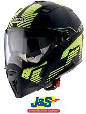 Caberg Stunt Full Face Motorcycle Helmet Blizzard Matt Black Yellow SRP £149.99