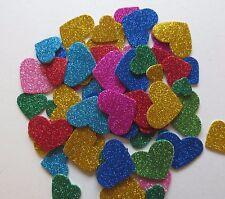 MIXED FOAM SELF ADHESIVE GLITTER HEARTS CRAFT SHAPES/EMBELLISHMENTS/VAR QTY