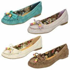 Spot On Ladies Flat Ballerina Shoe