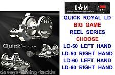 DAM QUICK ROYAL LD LEVER DRAG REEL BIG GAME 2 SPEED SEA BOAT FISHING MULTIPLIER