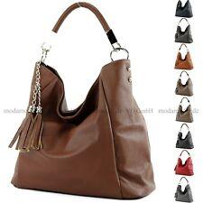 ital. Ledertasche Schultertasche Damentasche Handtasche Shopper Leder groß T108