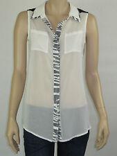 T by Bettina Liano Ladies Fashion Sleeveless Top size 8 Colour White / Black