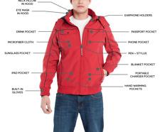 New BAUBAX Men's Red Bomber Jacket