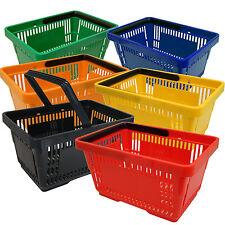 Panier d'achats Vente en plastique Nacelle de main 21L Sélection couleurs