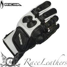 Richa Indy noir blanc ventilé moto Moto Scooter Gants