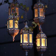 Vintage Candle Holder Moroccan Glass Candle Lanterns Hanging Candlesticks