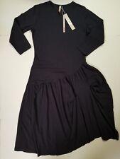 Ginger  Dress Navy Long Sleeve Long Short Drop Waist Cotton NWT CHOOSE SIZE BOHO