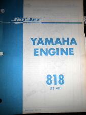 Sno Jet Factory Service Manual Yamaha Engine 818 SS433