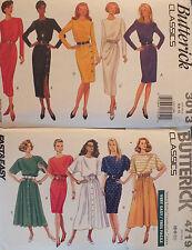 VTG 90's Butterick 3013/4719 Misses Dress PATTERNS 6-8-10 Both UC