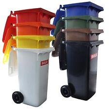 Containers SULO 120 L, bac à ordures ménagères poubelle extérieure, tri sélectif