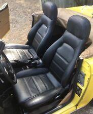 1990-2000 Mazda Miata / MX-5 Replacement Leather Seat Covers Black