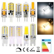 G4 G9 LED 3W 5W 6W 8W 10W 12V 220V Dimmable COB Ampoule Remplacer Lampe Halogène