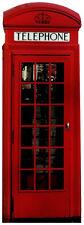 CLASSIC RED PHONE BOX LIFESIZE CARDBOARD CUTOUT STANDEE British Telephone box